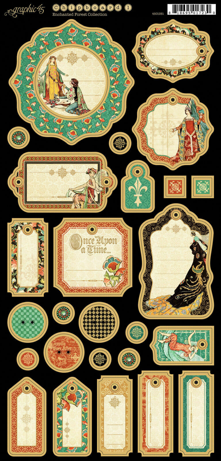 Graphic 45 Enchanted Forest Collection- 6x12 Chipboard