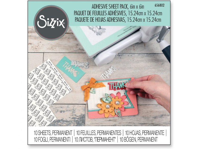 "Sizzix Accessories Adhesive Sheet Pack 6""x 6"" 10pc"