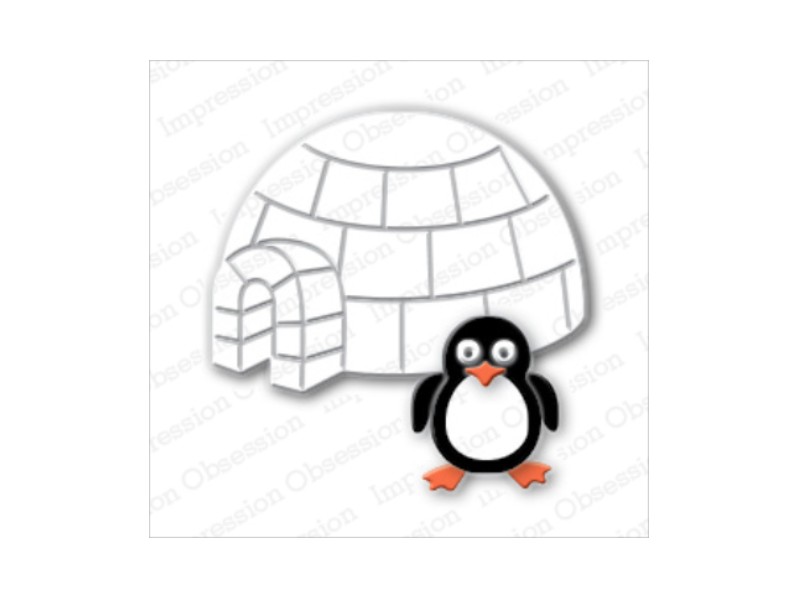 Impression Obsession Penguin & Igloo Designer Die Set