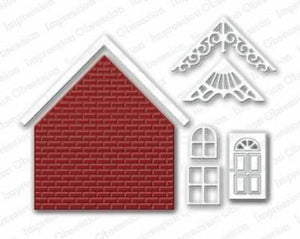 Impression Obsession Brick House Die Set