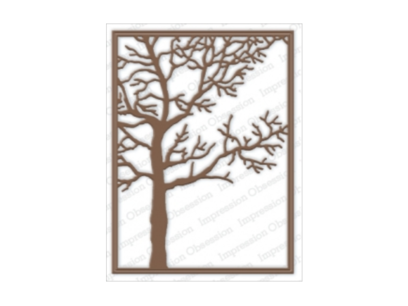 Impression Obsession Tree Frame Die