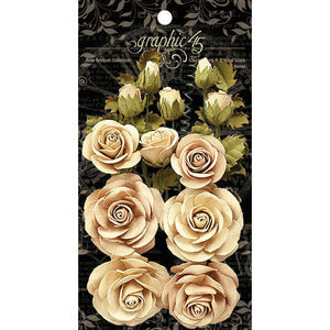Graphic 45 Rose Bouquet Collection Classic Ivory & Natural Linen