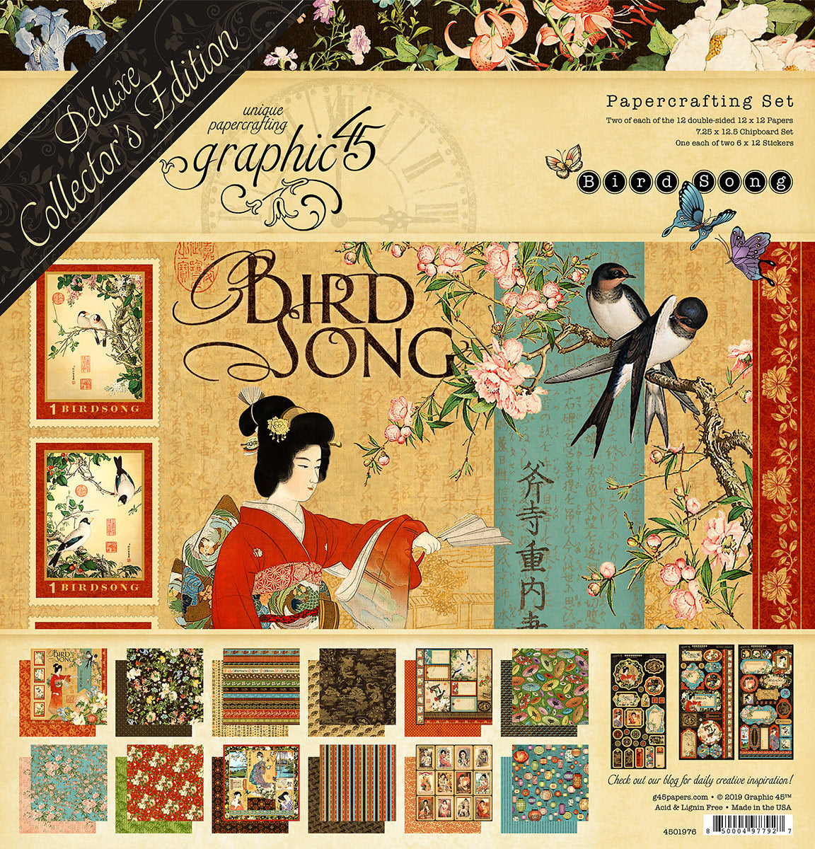 Graphic 45 Bird Song Deluxe Collectors Edition Collection Kit