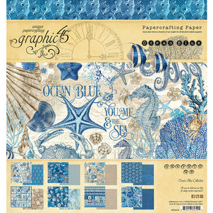 Graphic 45 Ocean Blue Collection  8 x 8 Paper Pad