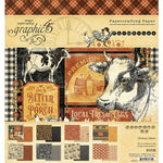 Graphic 45 - Farmhouse Collection - 8 x 8 Paper Pad