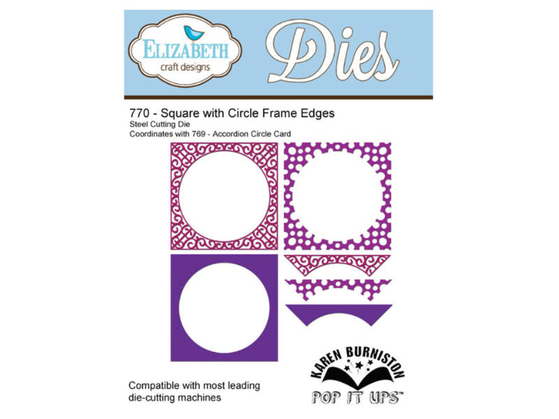 Elizabeth Craft Designs Karen Burniston Square with Circle Frame Edges