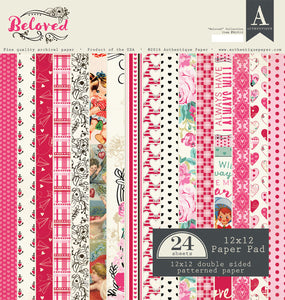 Authentique Beloved Collection 12 x 12 Paper Pad