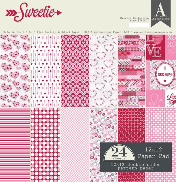 Authentique Sweetie Collection 12 x 12 Paper Pad