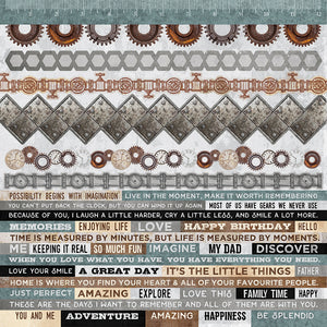 Kaisercraft - Factory 42 Collection - 12 x 12 Sticker Sheet