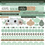 Kaisercraft Mint Wishes collection 12x12 Sticker Sheet