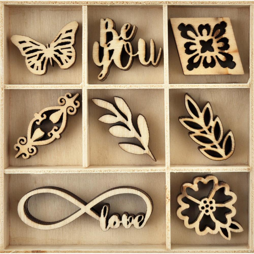 Kaisercraft Lucky Dip Wooden Flourish Pack Be You