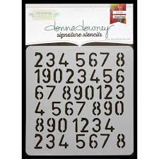 "Donna Downey Signature Stencils -Numbers Repeat 8.5"" x 8.5"""