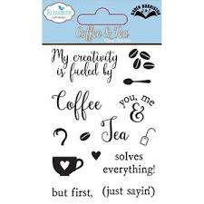 Elizabeth Craft Design COFFEE & TEA Clear Stamps Die