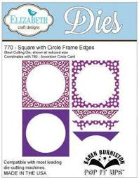 Karen Burniston Fancy Frame Edges - Square with Circle Frame