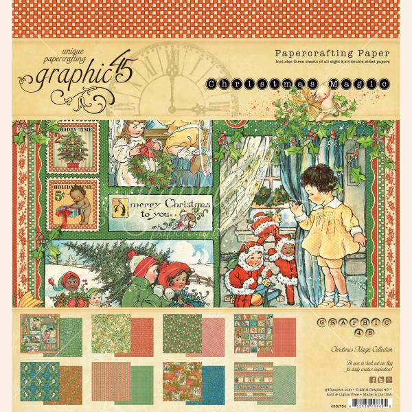 Graphic 45 Christmas Magic 8 x 8 Paper Pad