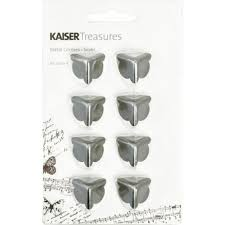 KaiserCraft Treasures Metal Corners Silver