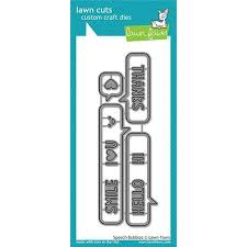 Lawn Fawn Speech Bubbles Border Lawn Cuts