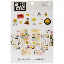 Simple Stories Carpe Diem Emoji Love Sticker Tablet