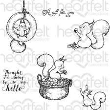 Heartfelt Oakberry Lane: Furry-Tailed Frolic Cling Stamp