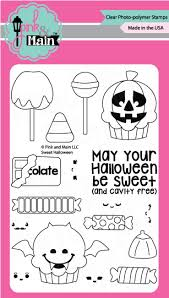 Pink and Main Sweet Halloween Cling Stamp