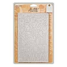 Tim Holtz Idea-ology Grungeboard Letters and Blocks