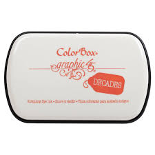 Graphic 45 Decades Color Box Ink Pad - Rustic Orange