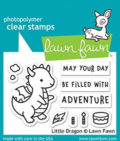 Lawn Fawn Little Dragon Cling Stamp Set