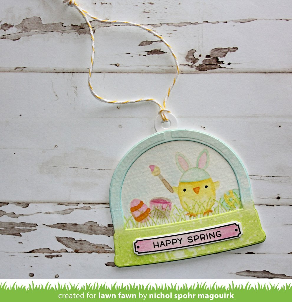 "Lawn Fawn "" Ready, Set, Shake Cling Stamp Set"