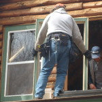 Full Log Home Window Replacement