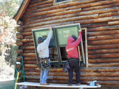 Log Home Window Installation