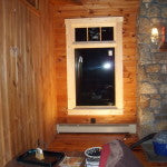 New window installed in a log home