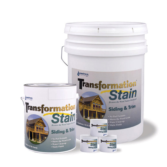 Transformation Siding & Trim water based stain for log homes