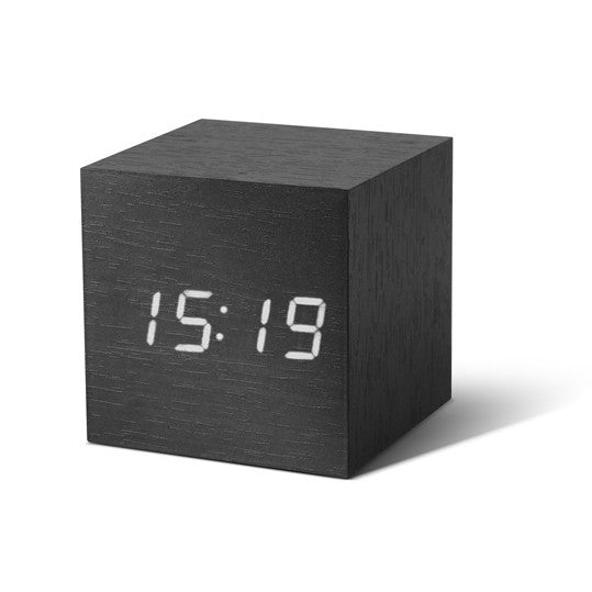 Mini cube sound control alarm clock cute desktop