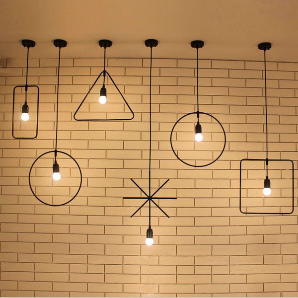 New Geometric Art Pendant Lights