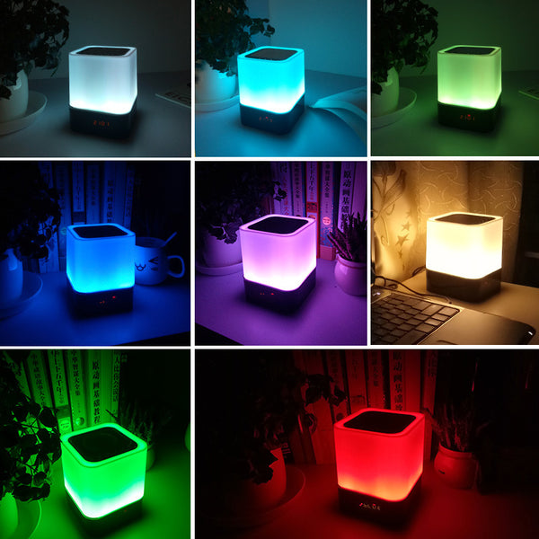 Lamp Support Alarm Clock Bluetooth Speaker Music