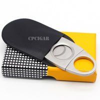 COHIBA Stainless Steel Metal Classic Cigar Cutter with Gift Box