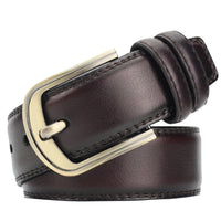 Men Belt with Pin Buckle Simple Vintage Waist Belt for Men