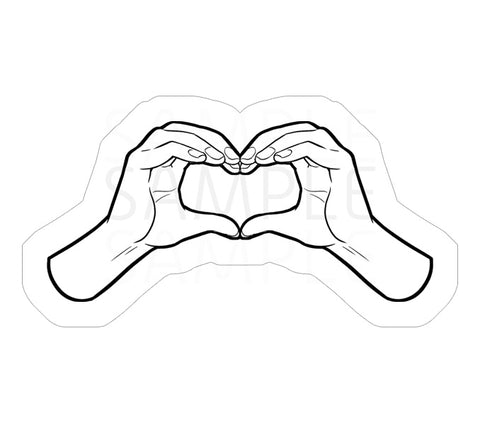 Two Hands Heart Sticker