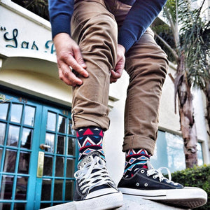 How to Wear Fun, Colorful, Bold Socks..