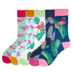 Flamingo Socks, 5 pack
