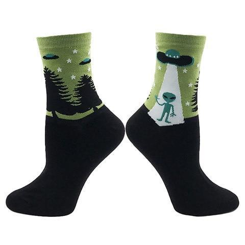 🛸 Alien and UFO Socks -Snazzy Socks