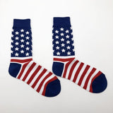 ⭐ American Flag, USA Socks, Unisex, One Size, 2 Designs-Snazzy Socks