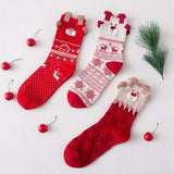 🎄 Christmas Reindeer Printed Women's Soft Socks, 3 Designs-Snazzy Socks