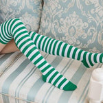 Colorful Sexy Striped Over Knee Socks, 20 Colors-Snazzy Socks