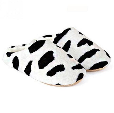 🐄 Cow Print Slippers For Women, Soft and Comfy-Snazzy Socks