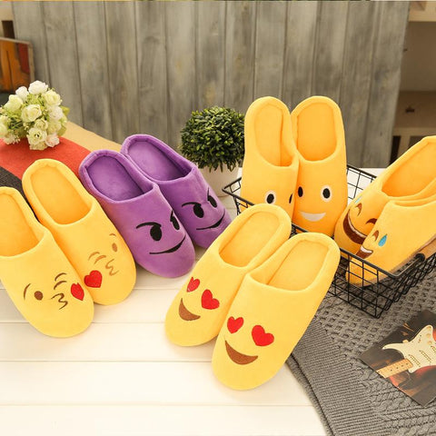 😉 Emoji Slippers, Soft Velvet Feel, Multiple Designs and Sizes-Snazzy Socks