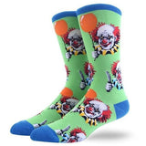 Scary Clown Green Socks