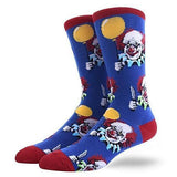 Scary Clown Blue Socks