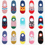 Fun Colors and Designs, No Show Socks, No Slip Heel,-Snazzy Socks