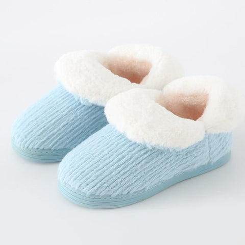 Fuzzy Slippers For Men & Women, Fleece Lined, 6 Colors-Snazzy Socks